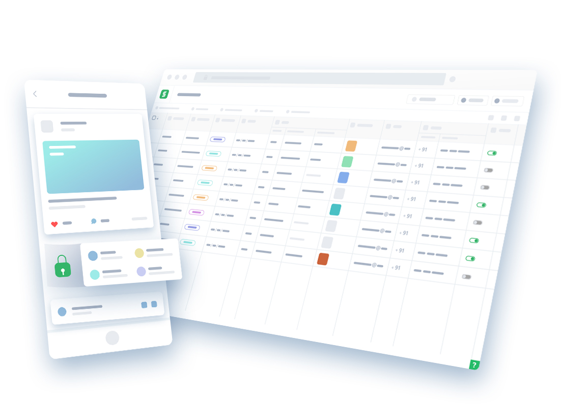 Organize your data like excel sheets