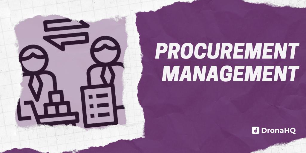 procurement management with dronahq