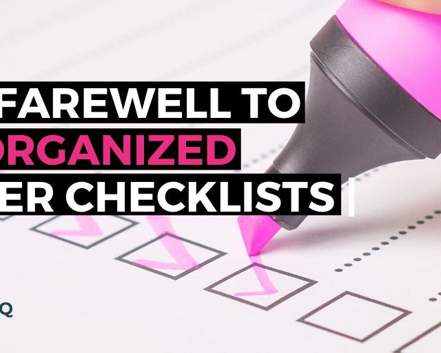 digitize paper checklist