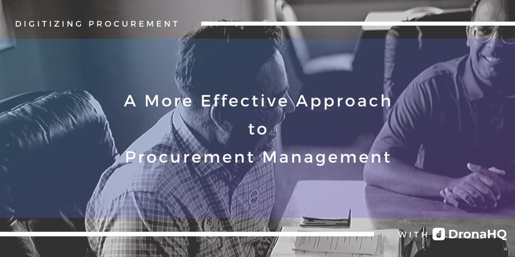 digitize procurement with DronaHQ