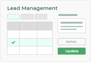 A custom CRM internal tool